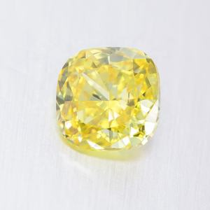 ZF Jewelry 2020 New Arrivals In Stock Cushion Excellent Cut Yellow Color VVS 2.02Carat HPHT Lab Grown Diamond For Ring