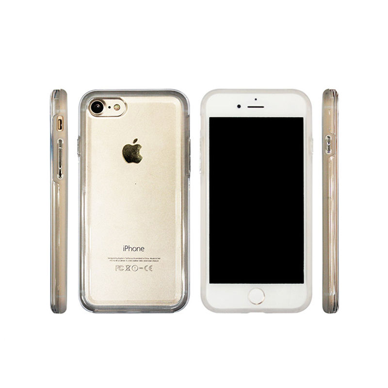For iPhone 7 8 SE NEW 2 in 1 style clear plastic PC TPU cell phone case cover made in China