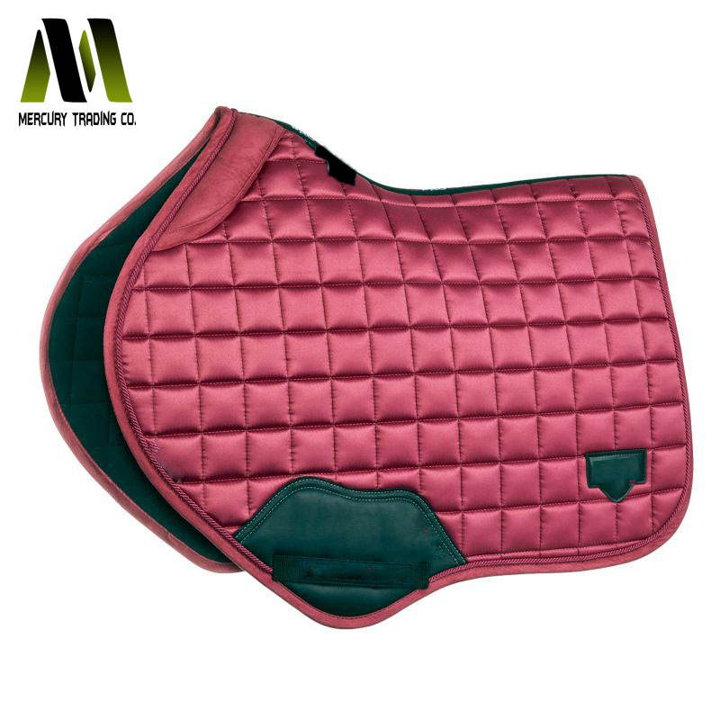 Top Quality Dressage Saddle Pads Gray Anchor Color square style Quilt