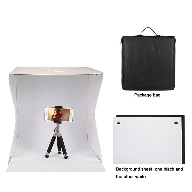 Portable Foldable LED Mini Photo Studio Light Box Photography StudioためMobile Phone Cameraと20/30/40センチメートル