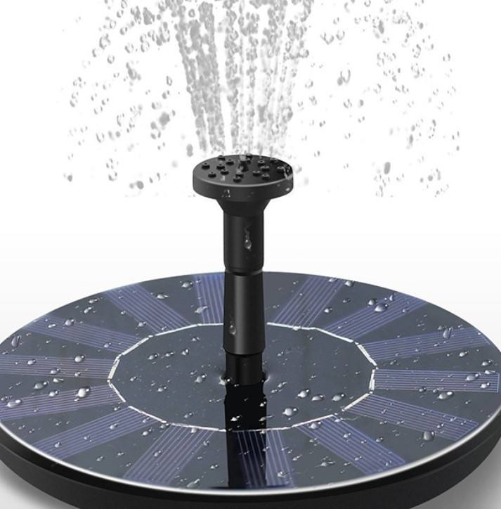 Solar Powered Low Garden Water Jet FountainためPool Lake Birdbath Pump Plastic Spray Ornaments
