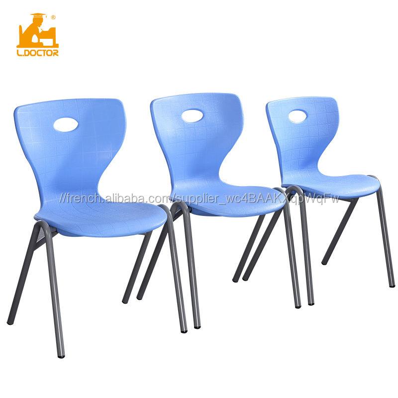 <span class=keywords><strong>Polyvalent</strong></span> Durable Empilable En Plastique Chaise De Bureau avec cadre En Acier