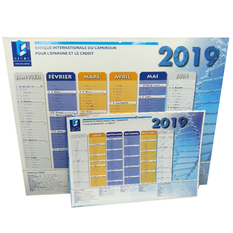 Taille <span class=keywords><strong>Personnalisée</strong></span> d'impression de <span class=keywords><strong>calendrier</strong></span> <span class=keywords><strong>mural</strong></span> de papier avec trou <span class=keywords><strong>calendrier</strong></span> <span class=keywords><strong>mural</strong></span> mensuel