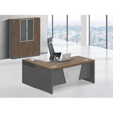Cheap high luxury melamine wooden manager CEO table L shape modern executive office desk