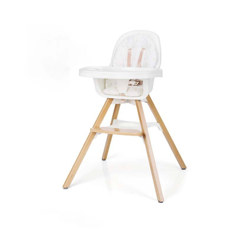 2 in 1 wooden high chair booster swing baby high chair with double removable tray and adjustable legs for baby infants toddlers