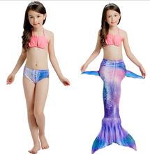 Hot sale colorful dress swimming suit for kids mermaid costume