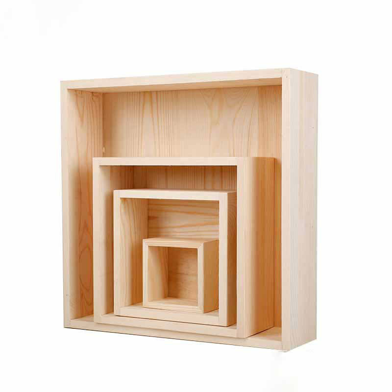 Factory wholesale natural solid wood square wooden box for sale