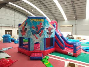 Spiderman bouncers manufacturers commercial inflatable bounce house slide