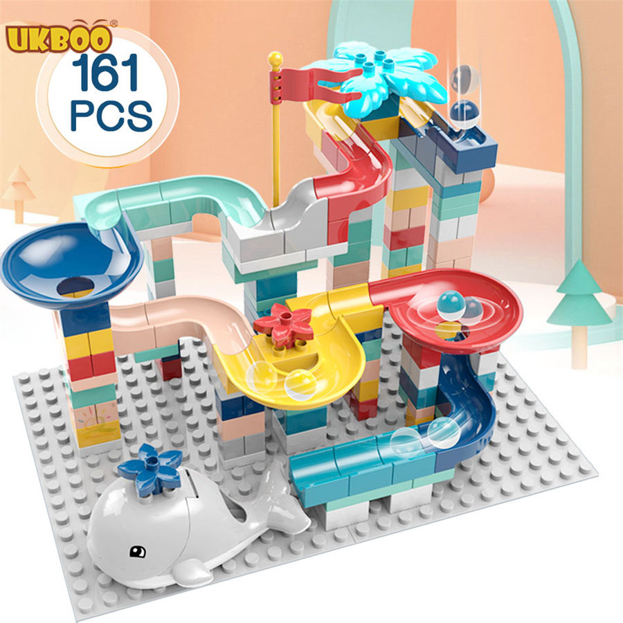 UKBOO H102/H103/H104 Kinder Kinder DUPLOed Marmor Run Intelligenz Big Sets Bauen Spielzeug Baustein Ziegel