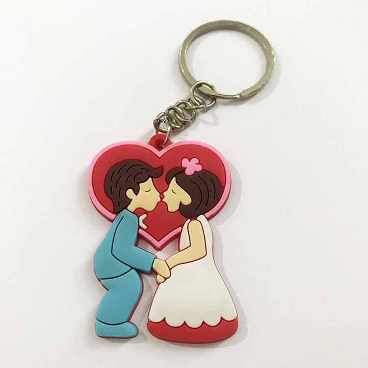 OEM ORDER OEM nun shape embossed rubber key holder 2d pvc keychain manufacturers suppliers Wedding gift rubber keychain