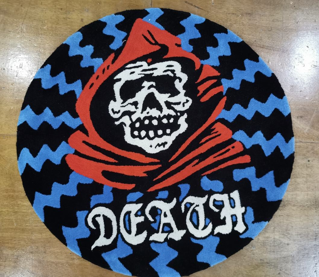 333 Rug Custom Shape Floor Mats Hand Carved Designer Brand Logo Rugs Commercial Use Die Cut Out Skull Rug Carpets