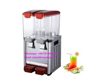 Italian restaurant equipment commercial prices one tank stainless steel base glass cold beverage buffet juice dispenser machine