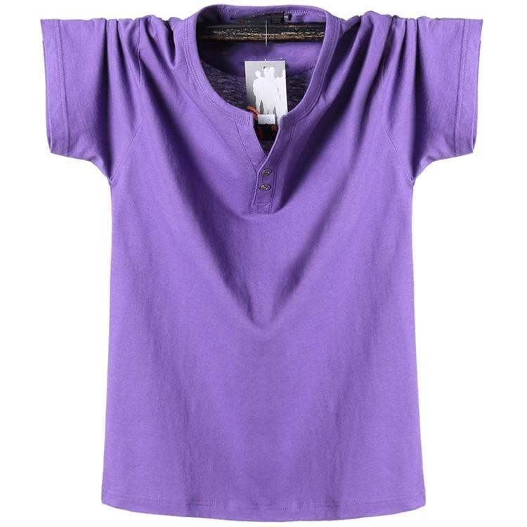2020 New Casual Style Soft Cotton T shirt China NanChang Export Garment Factory Price Mens Shirt Half Fastener