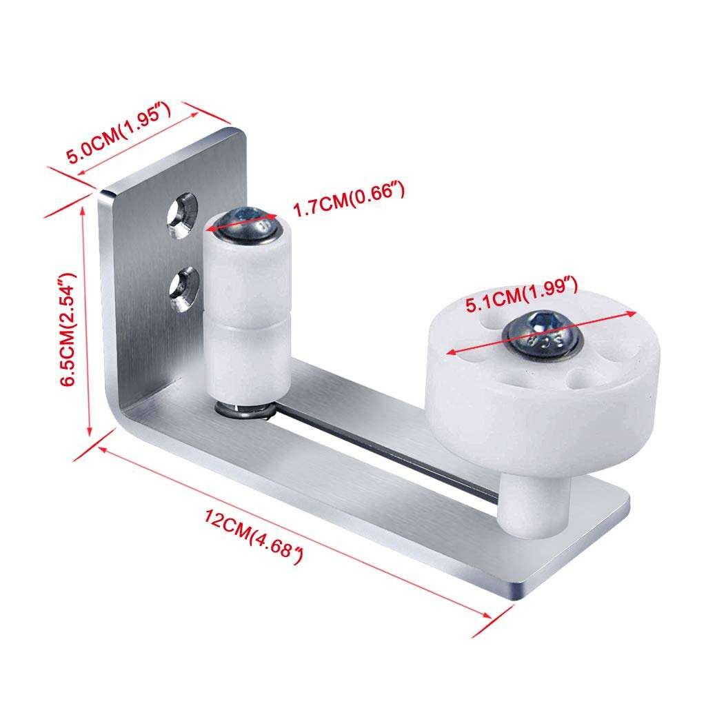 SS304 Stainless Steel Bottom Guide Stay Roller For Adjustable Floor Guide