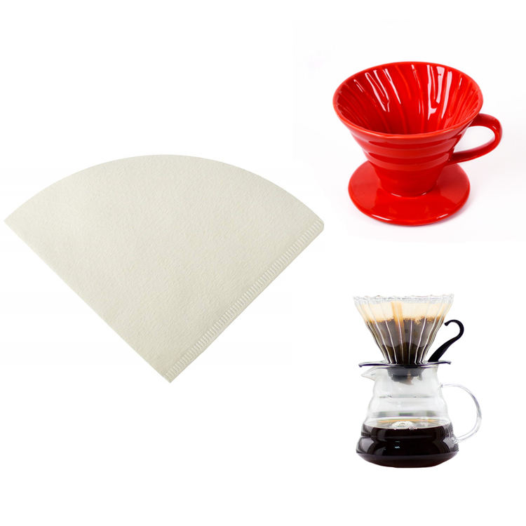 Cone shape Amazon best selling paper coffee filter,coffee paper filter for ceramic dripper
