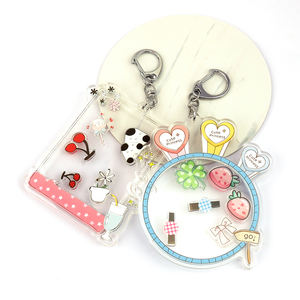 VOGRACE Customized Combined Printed Shaking Moving Anime Acrylic Charms with Small Shaker Keychains vograce acrylic shaker charm