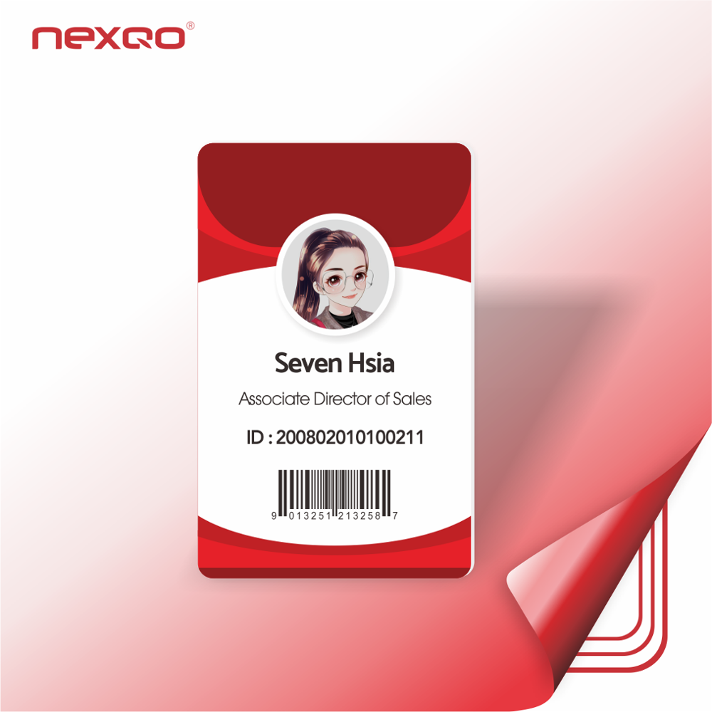 DZ04 Nexqo Plastic PVC Customized Employee ID Card Student ID Card
