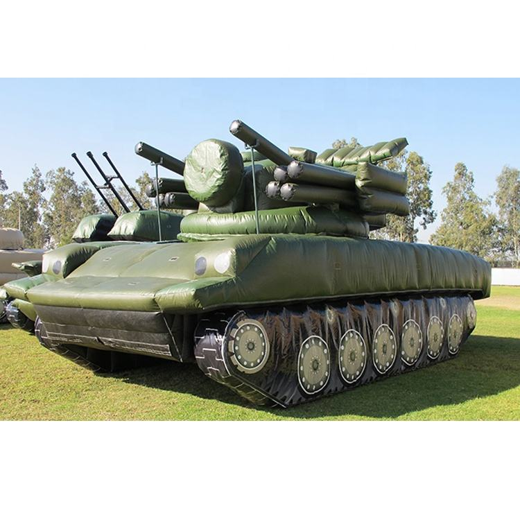 Customized giant inflatable military tank for Army Navy promotion event