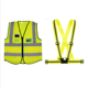 wholesale yellow blue color construction worker work wear vests reflective strap safety running warning vest shirt with pockets