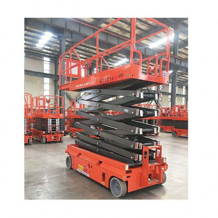 Auto-propulsione Mobile Idraulico Scissor Lift Table