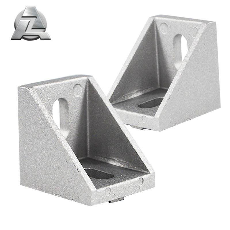2020 silver Corner Bracket Fitting Angle Aluminum 20X20 V slot L Connector Bracket 3D Printers accessories