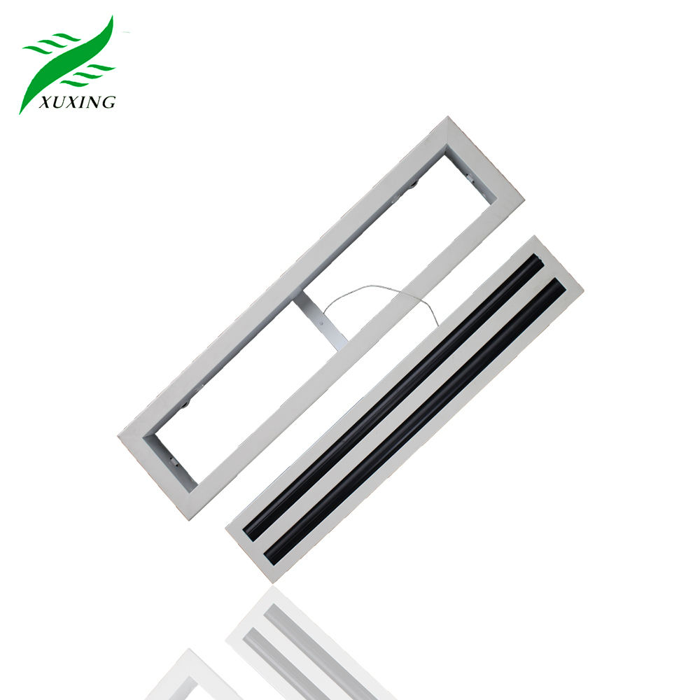 Hvac Ceiling white Air Conditioning supply aluminum linear slot diffuser air with Removable Core For Commercial Building