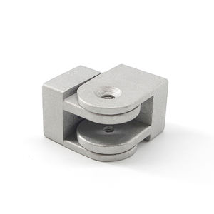 hot sales good quality shaoxing 40 aluminum casting pivot joint for 4040 series industrial profile in silver white