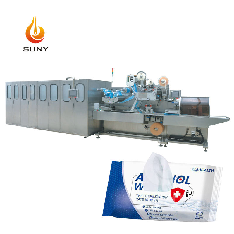 Fully Automatic Sachet Baby Wet Wipe Machine Wet Hand Wipes Machine Factory Price