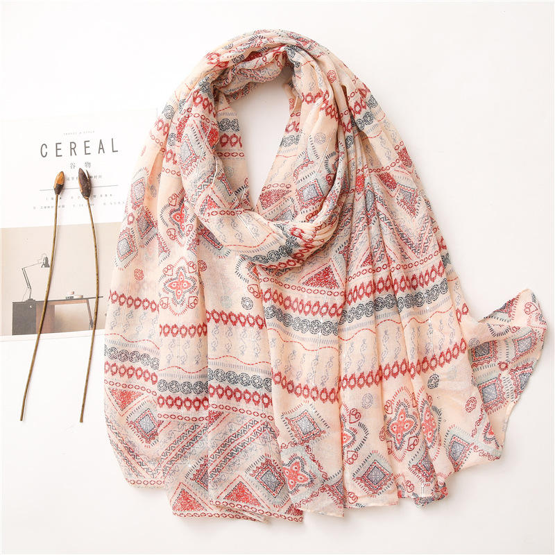 Original designer scarf 2020 women autumn winter Spain style bohemian hippie long yellow print scarf muffler cape