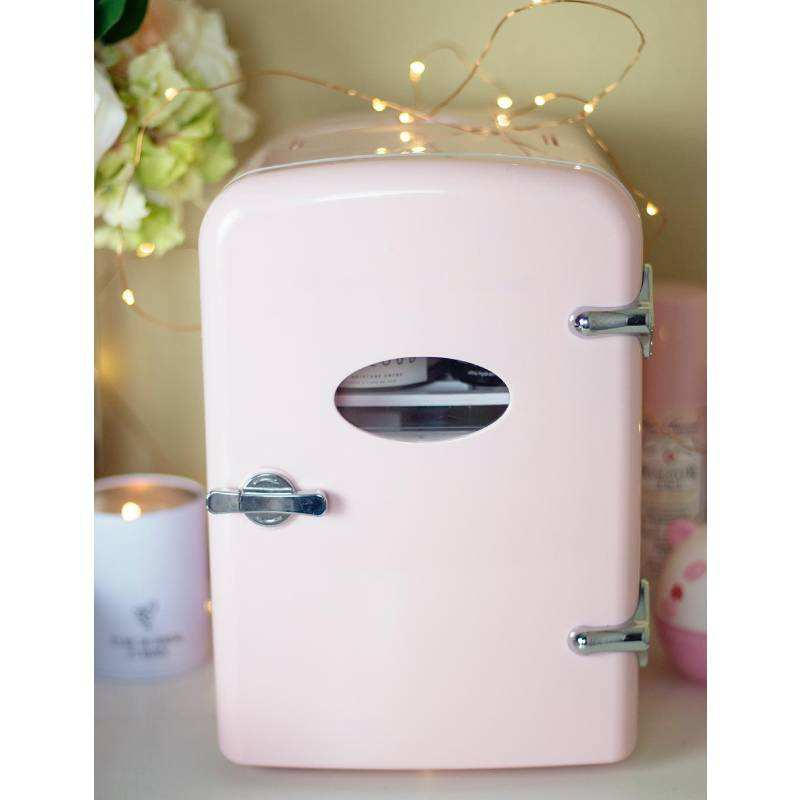 Factory price mini car refrigerator 4L DC12V pink cosmetic mini fridge cooler box