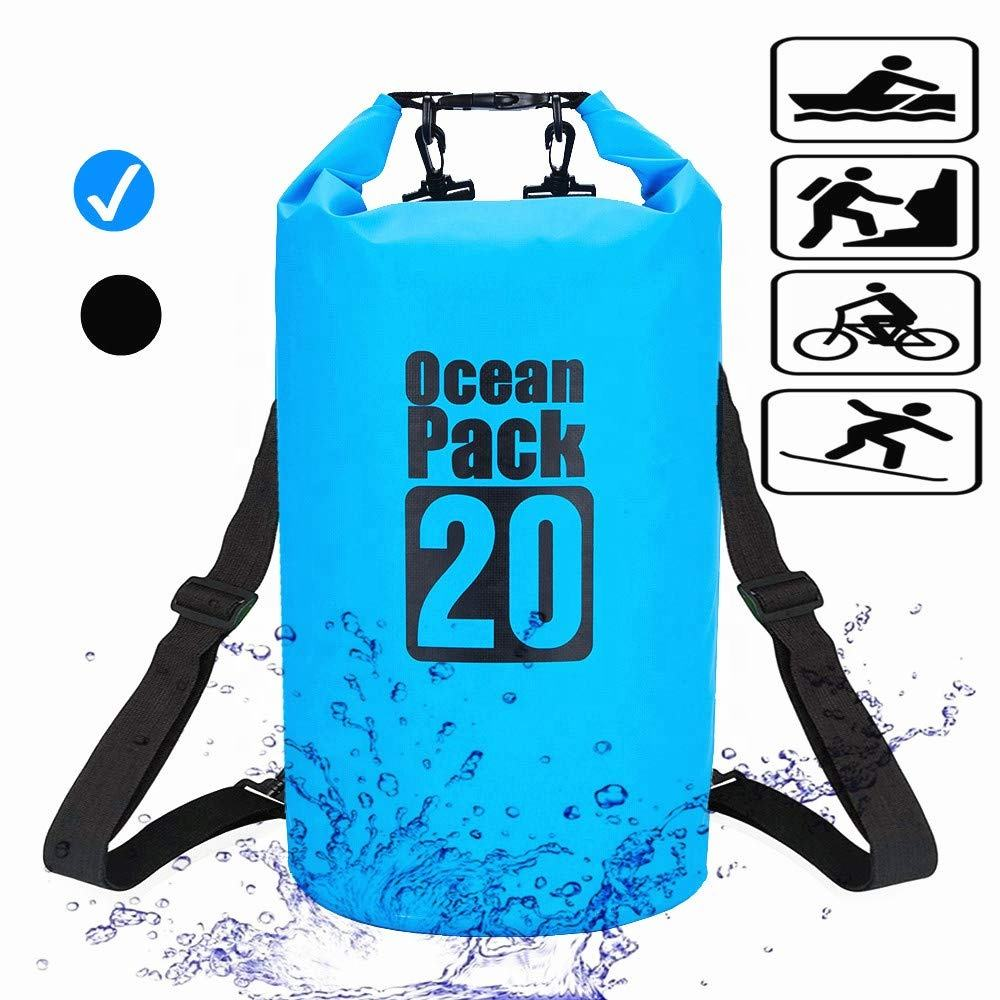 Waterproof Dry Bag 20L Roll Top Dry Compression Sack Dry Backpack for Water Sports Hiking ,Snowboarding,Camping