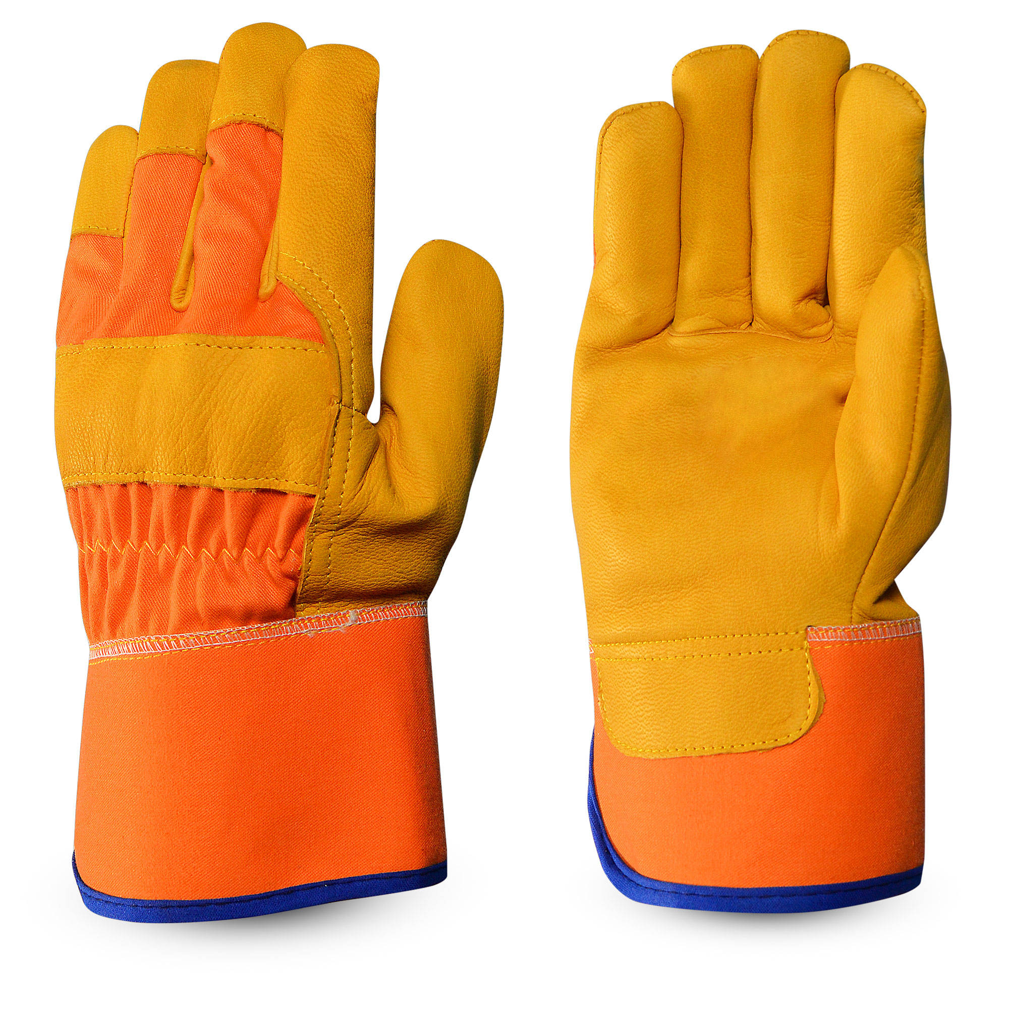 Goatskin Working Glove With Orange Cotton Zeen