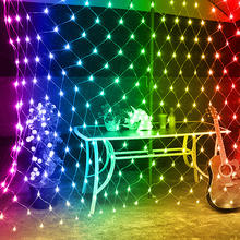 2M X 2M 144 LEDs Colorful  Fishing Net Mesh String Xmas Party Christmas Lights Outdoor Fairy Decoration Holiday Light