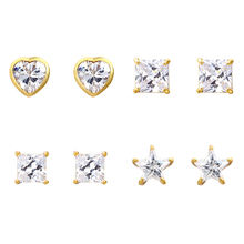 80375 Xuping aretes de mujer 24 karat gold plated ohrringe custom fashion crystal diamond stone stud earrings for ladies