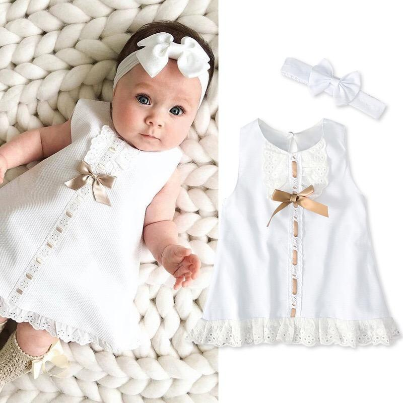 high quality new born 12 month -4 years little baby girl dress 2 piece