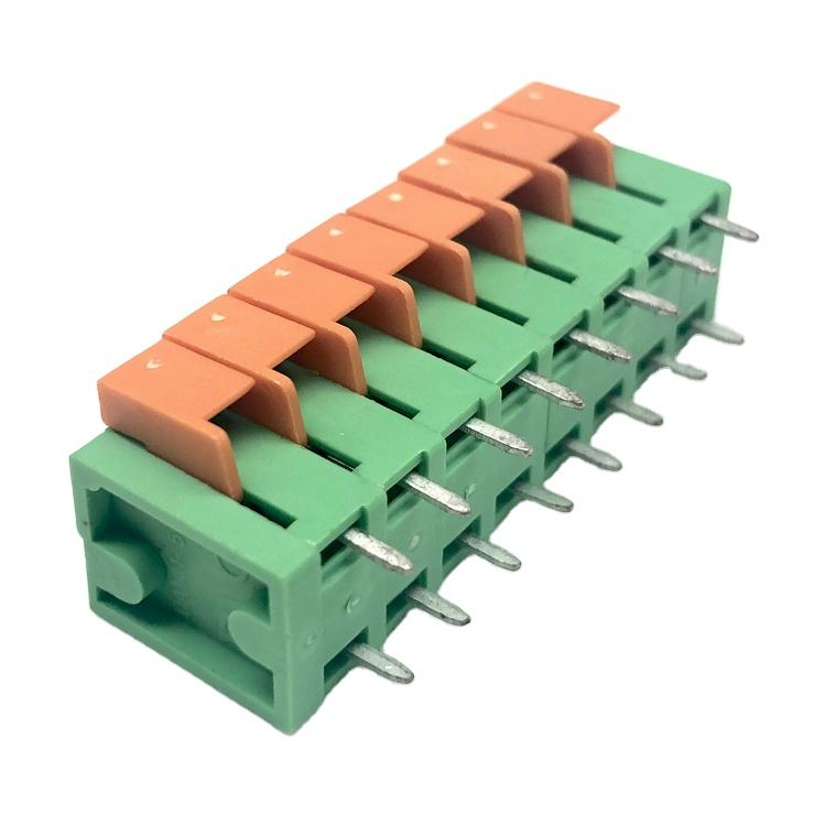 142V-5.08mm low voltage dc green color terminal block