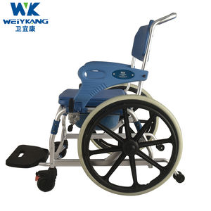 aluminum commode wheel chair folding commode chair commode chair with wheels and adjustable height for elder and disable