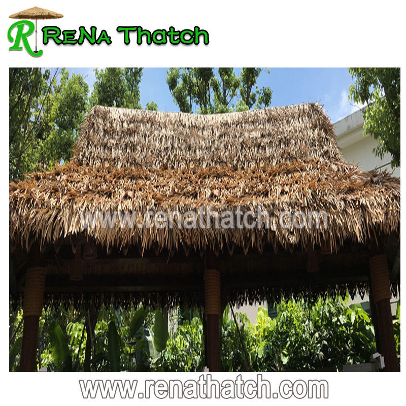 Outdoor thatched farm house