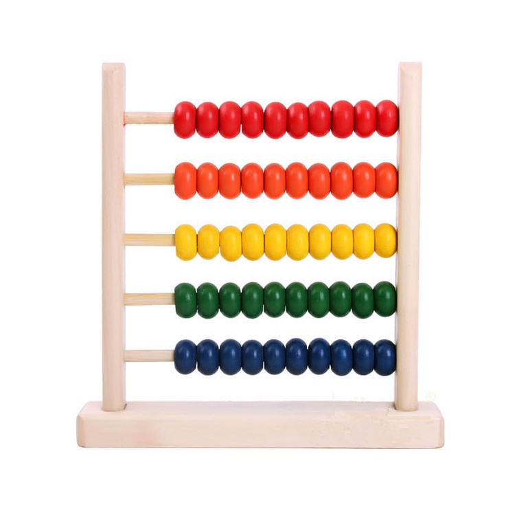 Funny educational toy Kids Beads Abacus Tools Toys Wooden Abacus