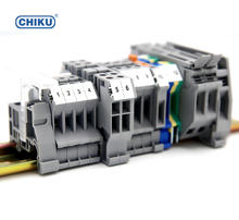 UK 2.5B din rail terminal blocks 2.5mm, electric screw wire cable terminal connectors, U/L