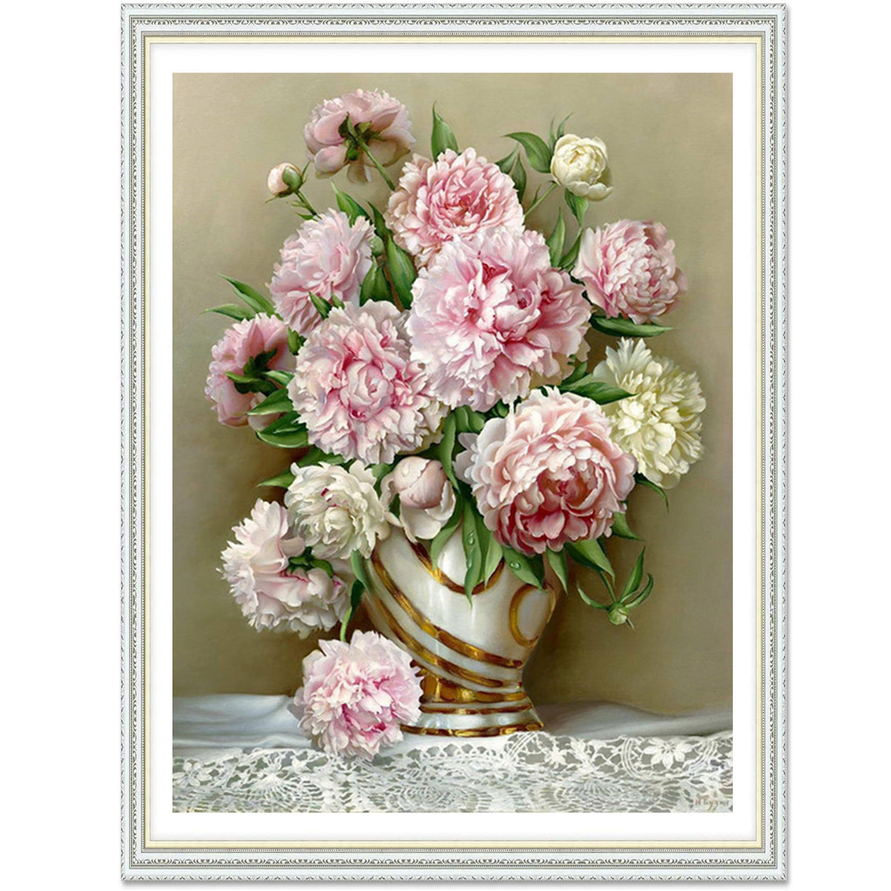 Modern Family Art 5D DIY Flower Diamond Painting for Decoration