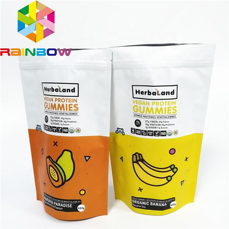 Resealable Stand Up Pouch Zip Lock Dried Fruit Packaging Bag Biodegradable Foil Bag Food Packaging Bag