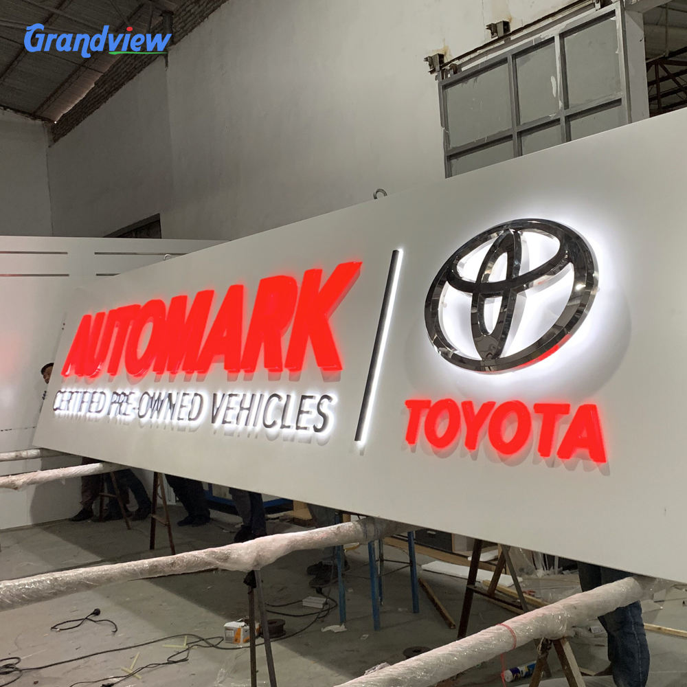 Led Lighting Car Logo signage Illuminated metal 3D Car Sign