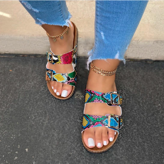 New trend Summer Female Flat Slippers custom Lady Sandals For Woman