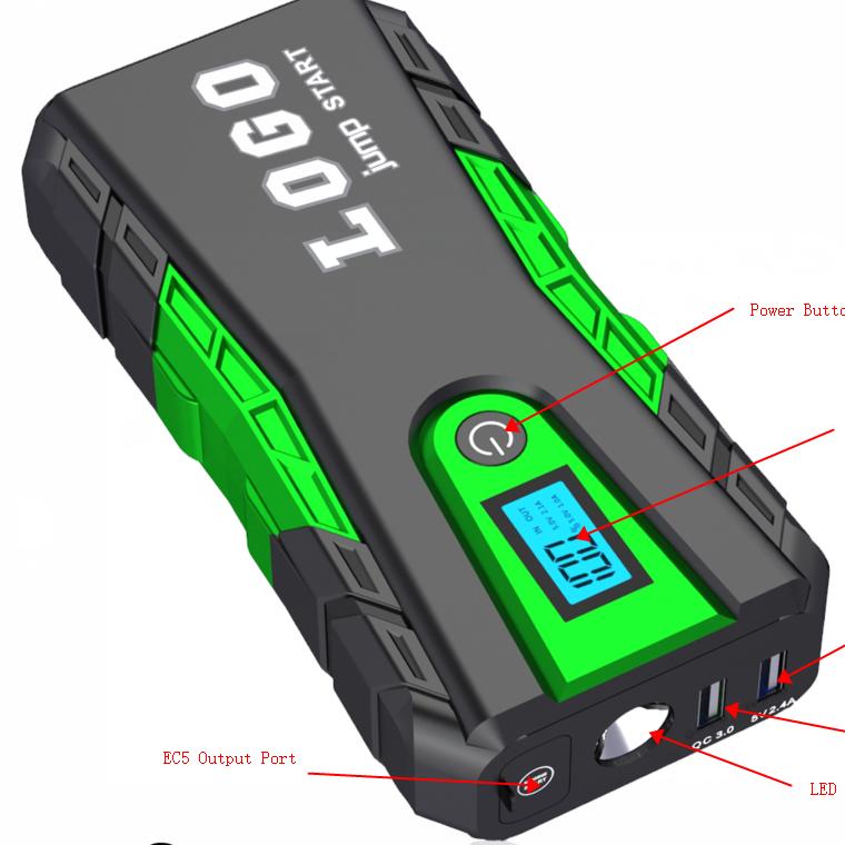 باوربانك محمول ببطارية 12 فولت من مصنع المعدات الأصلي للسيارات متعددة الأغراض للطوارئ بقوة 10000 مللي أمبير في الساعة