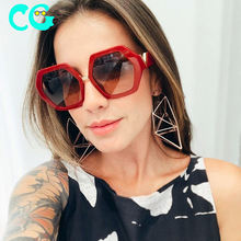 Polygonal Gradient Sunglasses Women 2019 Luxury Hexagon Black Men Sun Glasses Personality Ladies Eyewears UV400