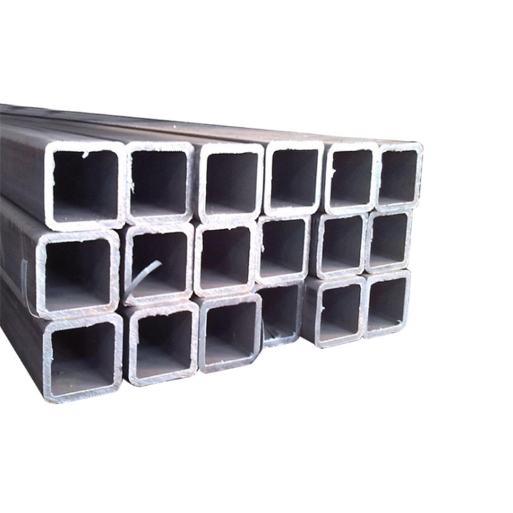 Kare tüp karbon çelik boru siyah içi boş bölüm karbon çelik Q235 kare metal boru