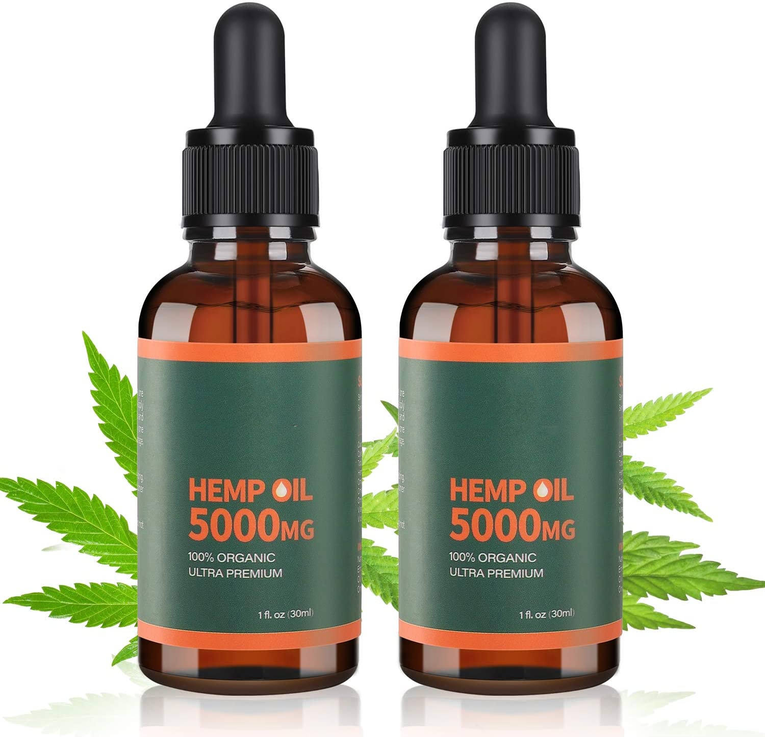 Private Label Minyak Biji Rami Organik Massal Hemp Oil 5000 MG
