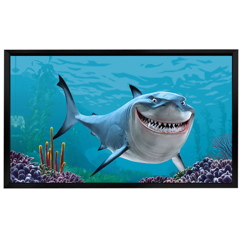 "120"" FIxed Frame Projection Screen with Good Price, Projector Screen Fixed in the Wall Material Soft PVC"