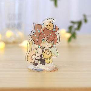 Werbe acryl standee maker, Individuell bedruckte acryl anime standee, Acryl holo anime cartoon standee keychain mit basis